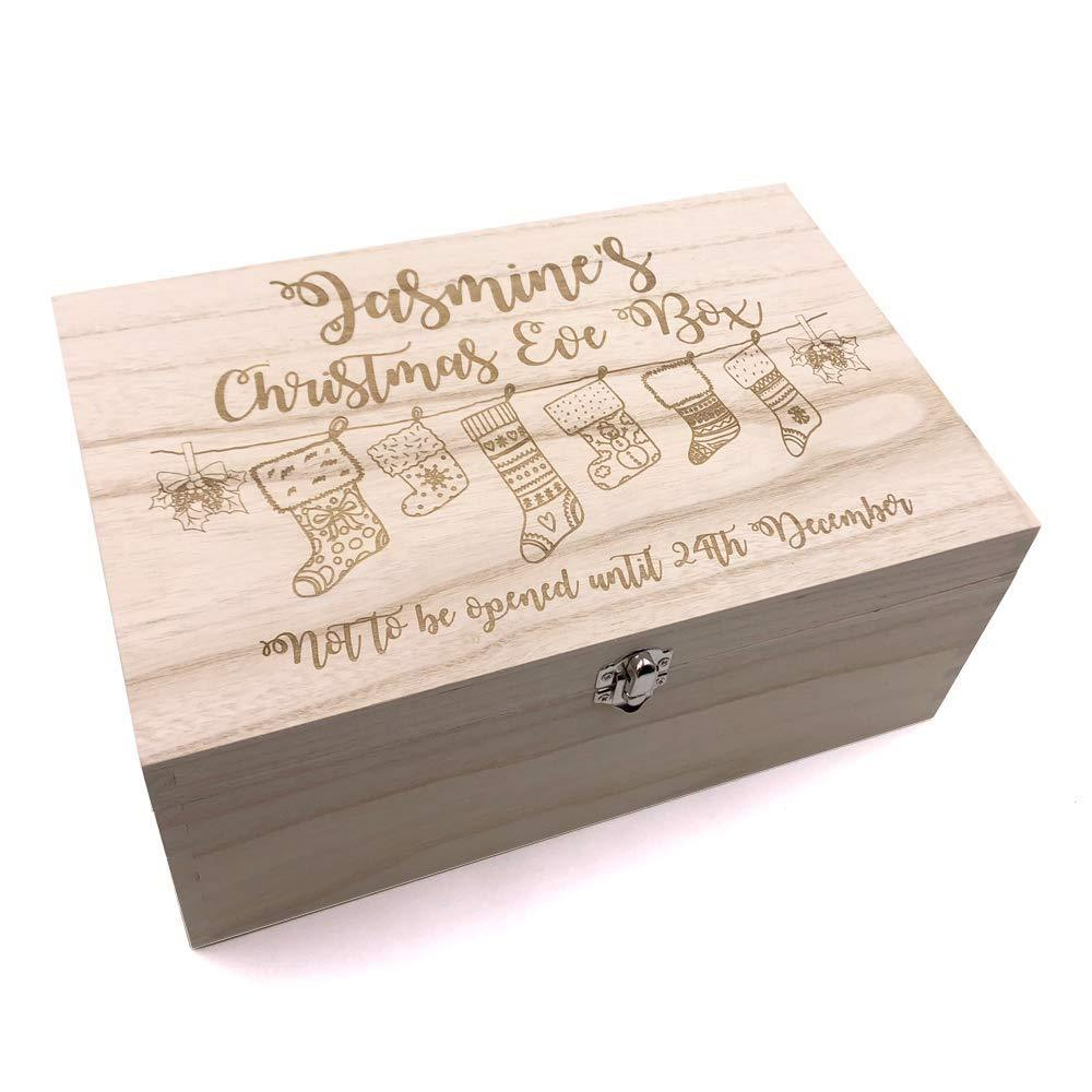 Personalised Large Wooden Christmas Eve Box - ukgiftstoreonline