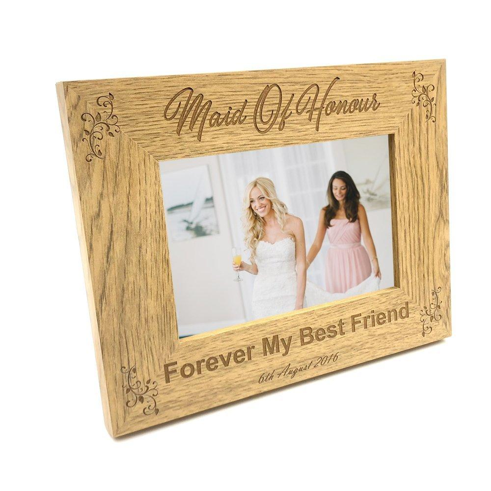 Personalised Maid Of Honour Photo Frame Wedding Gift - ukgiftstoreonline