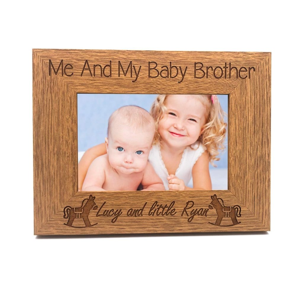 Personalised Me and My Baby Brother Engraved Photo Frame - ukgiftstoreonline