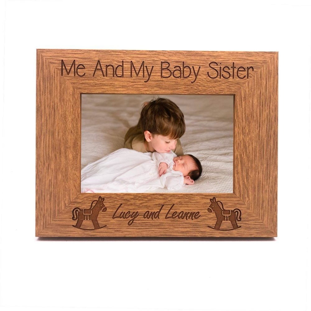 Personalised Me and My Baby Sister Engraved Photo Frame - ukgiftstoreonline
