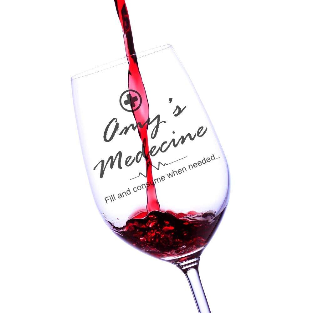 Personalised Medicine Wine Glass Novelty Gift - ukgiftstoreonline