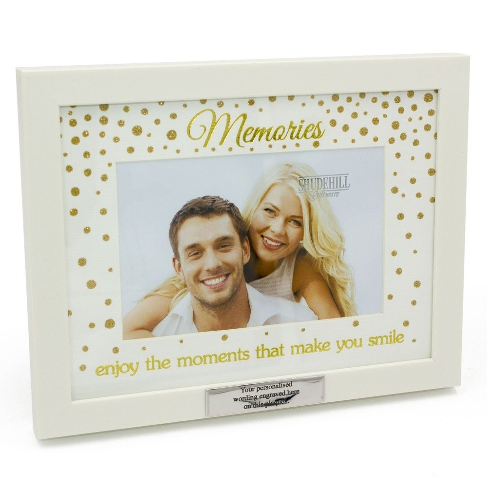 Personalised Memories Glitter Dot Photo Frame With Sentiment Gift - ukgiftstoreonline