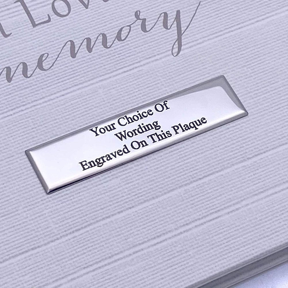 Personalised Memory Funeral Book Remembrance Guest Book With Flowers - ukgiftstoreonline