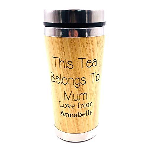 Personalised Mum Tea or Coffee Bamboo Travel Mug Gift - ukgiftstoreonline