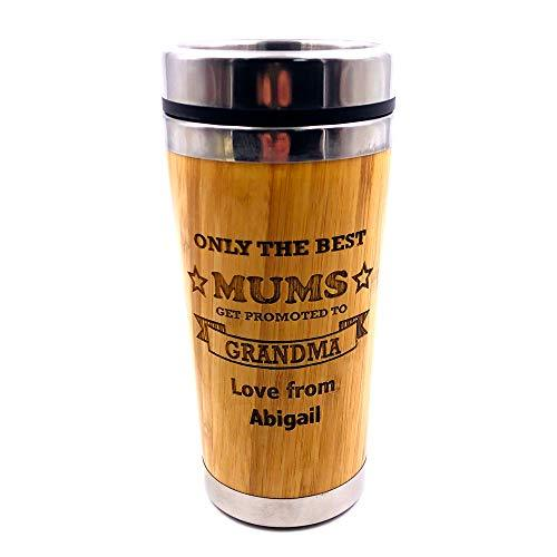 Personalised New Grandma to Be Bamboo Travel Mug - ukgiftstoreonline