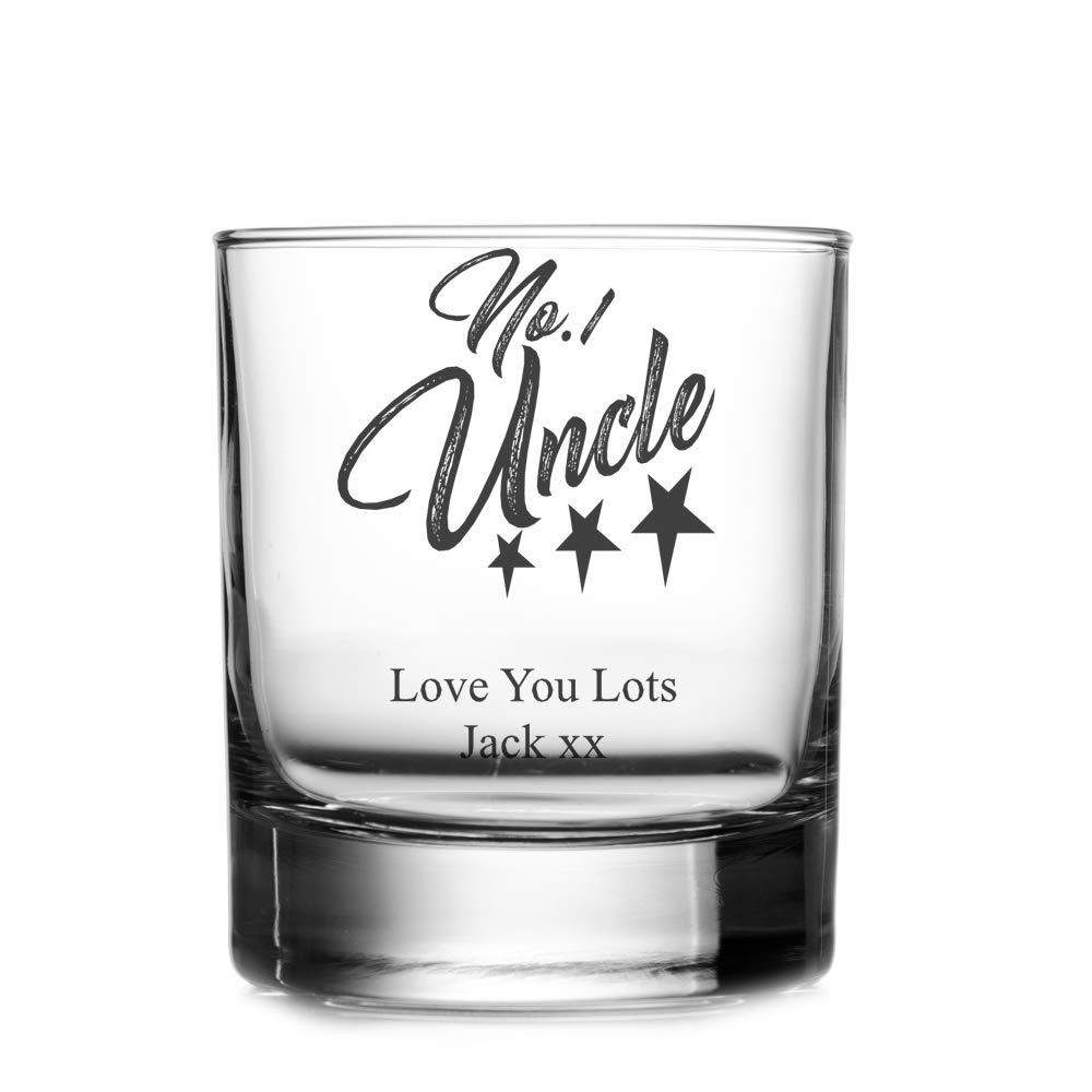 Personalised Number One Uncle Whisky Glass - ukgiftstoreonline