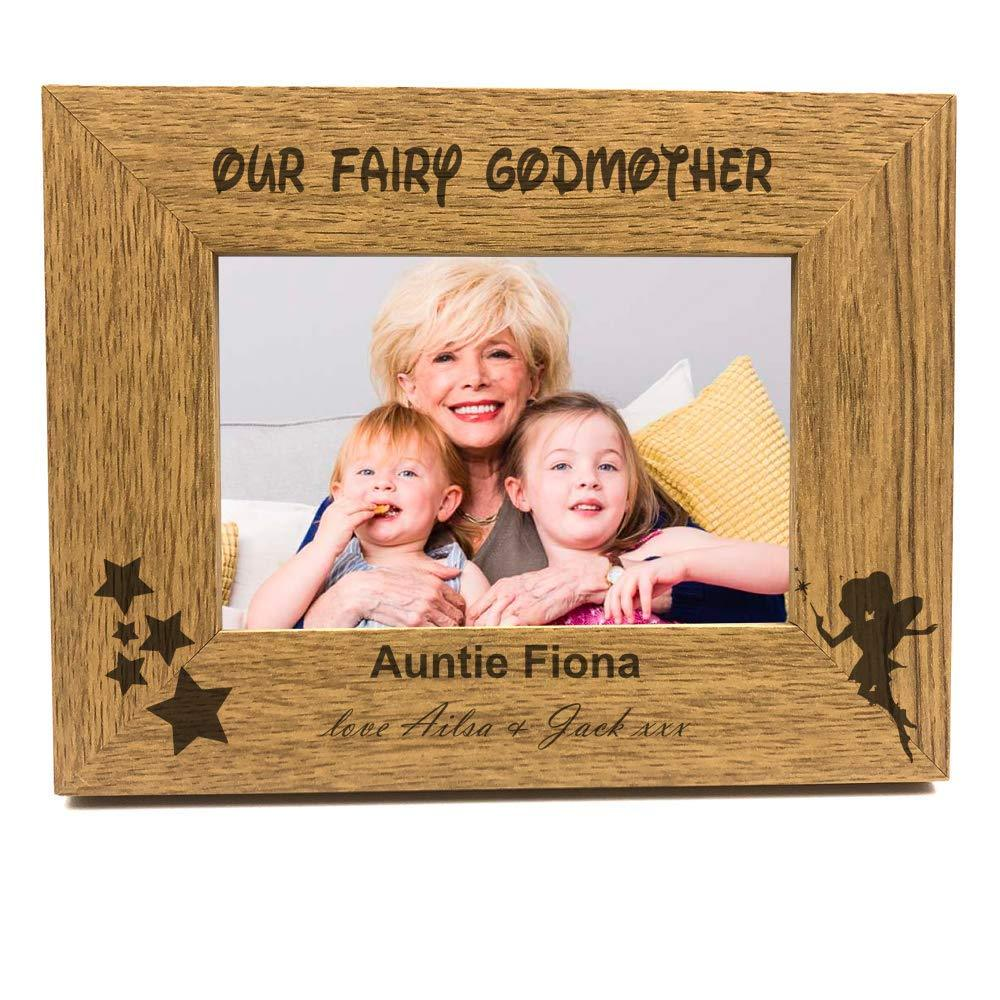 Personalised Our Fairy Godmother Wooden Photo Frame Gift - ukgiftstoreonline