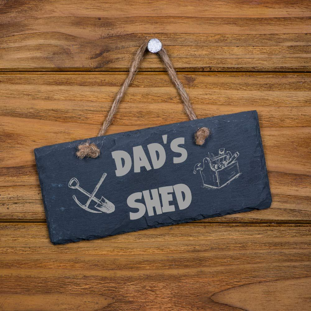 Personalised Shed Garage Slate Plaque Sign Gift for Him - ukgiftstoreonline
