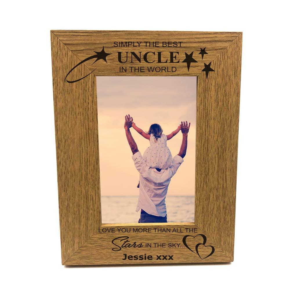 Personalised Simply The Best Uncle Portrait Wooden Photo Frame Gift - ukgiftstoreonline