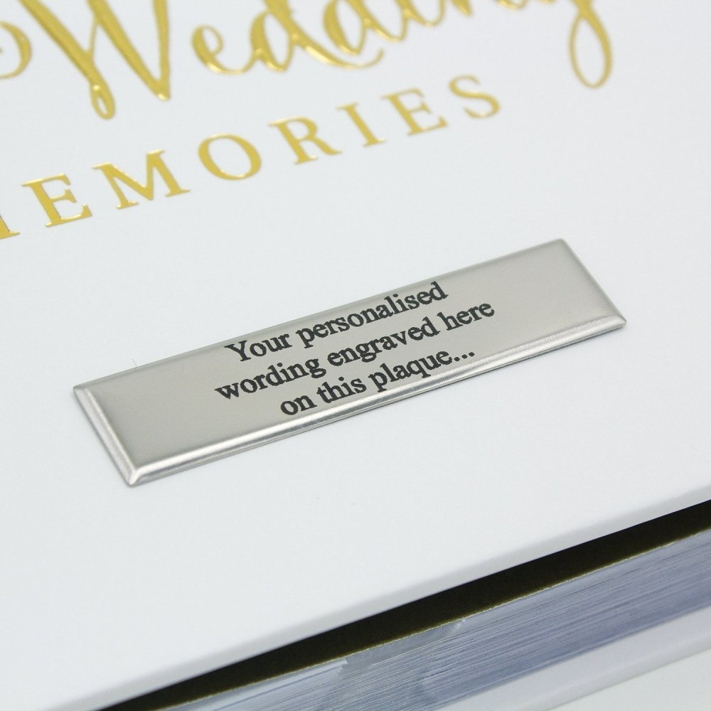 "Personalised Wedding Photo Album 80 6x4"" with verse design Gift - ukgiftstoreonline"