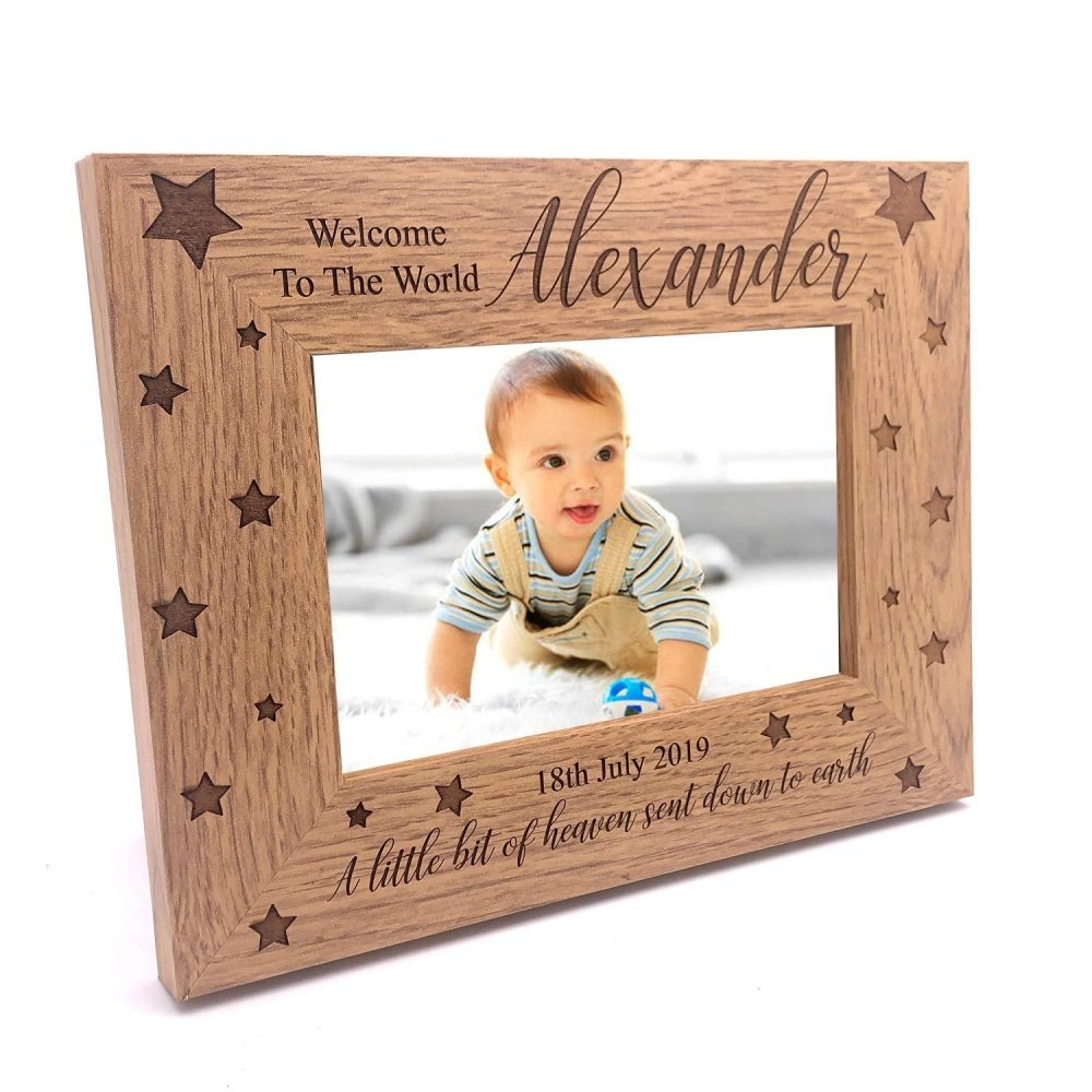 Personalised Welcome To The World Baby Photo Frame Gift - ukgiftstoreonline