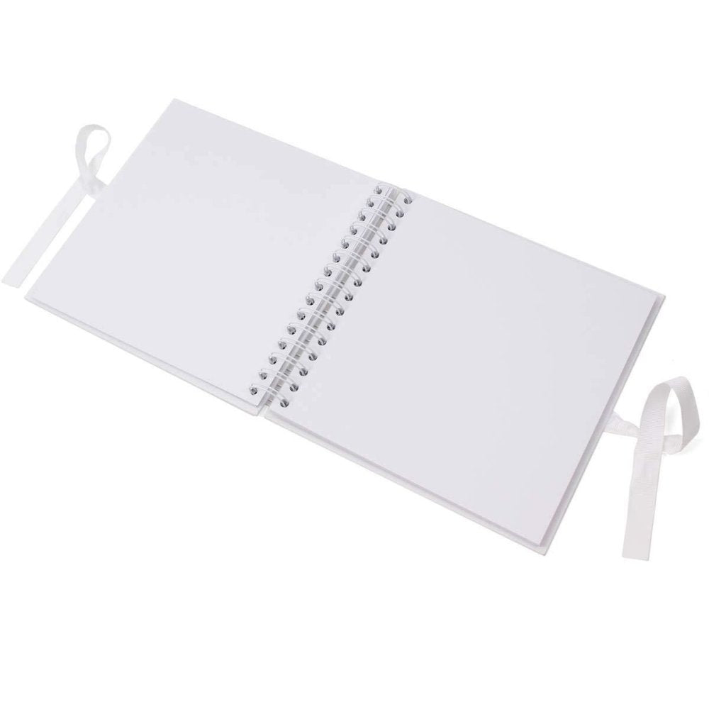 Personalised White Baptism Scrapbook Photo Album or Guest Book - ukgiftstoreonline