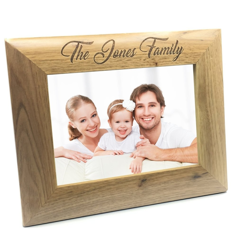 Personalised Wooden Photo 4 x 6 Frame Custom Engraved Any Message - ukgiftstoreonline