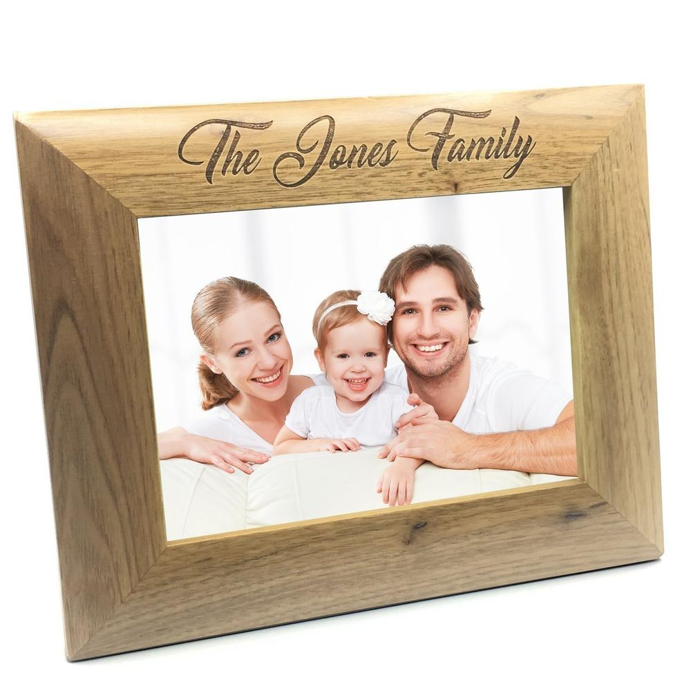 Personalised Wooden Photo 8 x 10 Frame Custom Engraved Any Message - ukgiftstoreonline