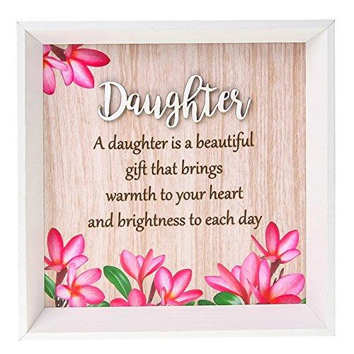 Pretty Words Daughter is a beautiful gift colourful square wall plaque gift - ukgiftstoreonline
