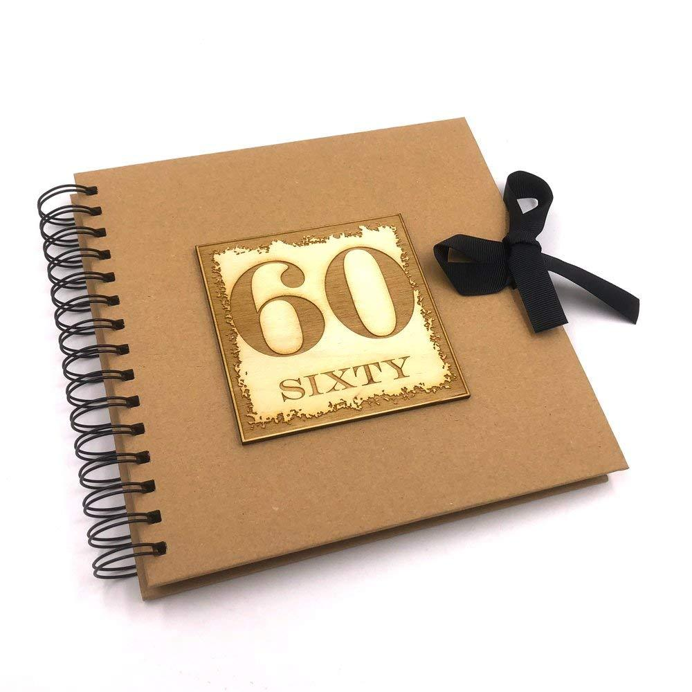 Raised Words 60th Birthday Scrapbook Photo Album or Guest Book - ukgiftstoreonline