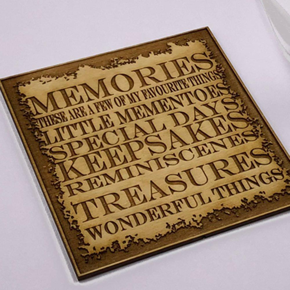 Raised Words Memories Book White Scrapbook Photo Album - ukgiftstoreonline
