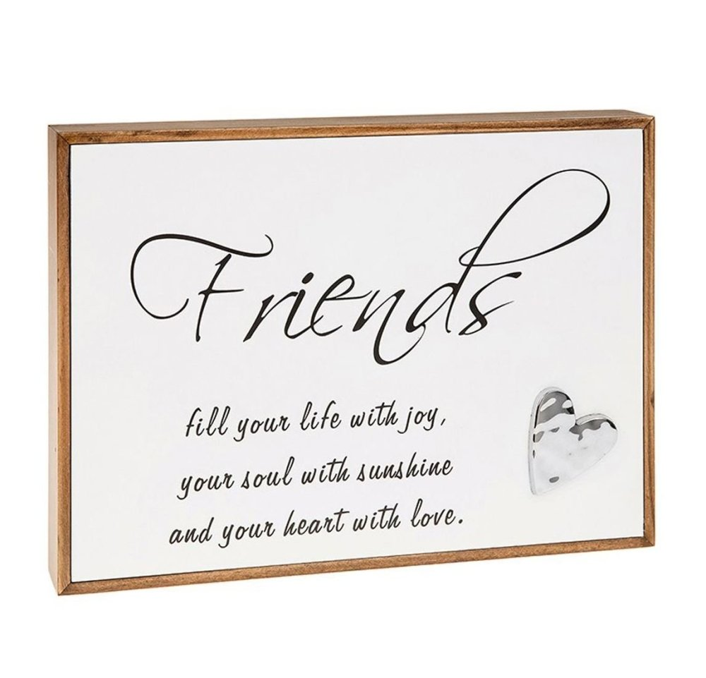 Rectangle Box Frame Wall Plaque with Friends Message by Love Lines Shudehill - ukgiftstoreonline