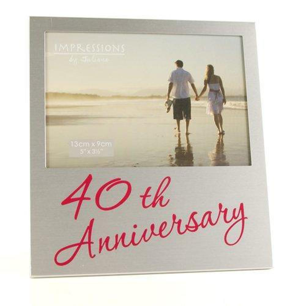 "Ruby 40th Wedding Anniversary Gift Photo Frame - 5""x3.5"" - ukgiftstoreonline"