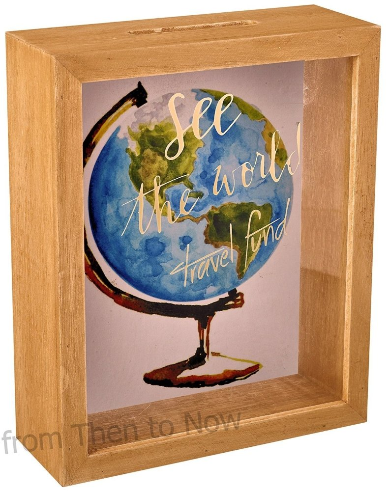 See The World Travel Fund Frame Glass Money Box - ukgiftstoreonline