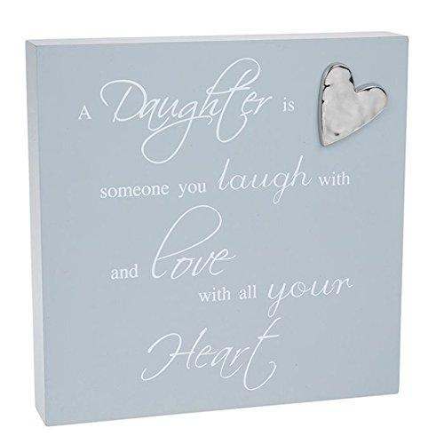 Shudehill Giftware Grey Daughter Plaque Heart Detail 'A Daughter Is Someone To Laugh With - ukgiftstoreonline