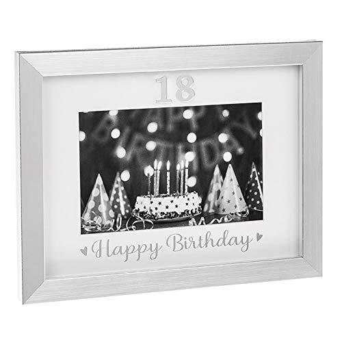 Silver Event Frames 18th Birthday Celebration Photo Frame New Boxed - ukgiftstoreonline