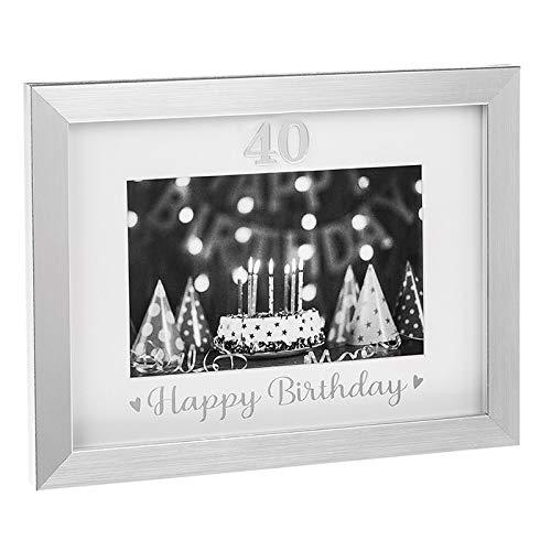 Silver Event Frames 40th Birthday Celebration Photo Frame New Boxed - ukgiftstoreonline