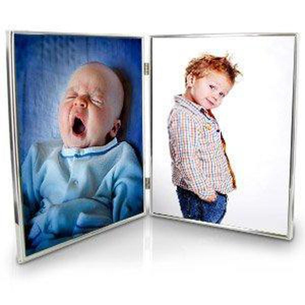 Silver Plated Double 8 x 10 Photo Frame - ukgiftstoreonline