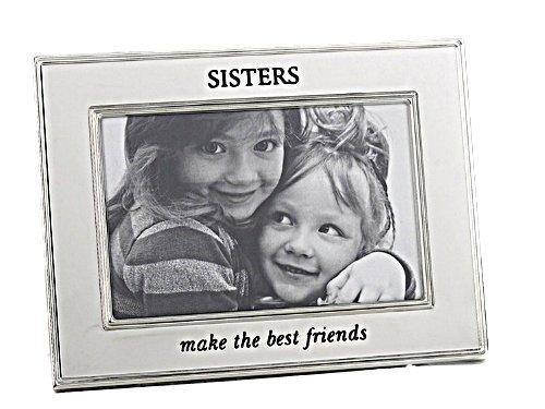 Silver Plated SISTERS (Make the best friends) Photo Frame for 6 x 4 Photograph - ukgiftstoreonline