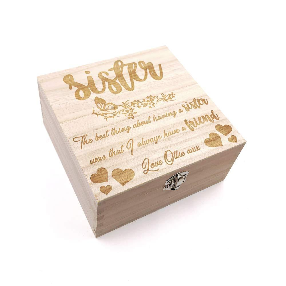 Sister Gift Personalised Keepsake Box or Photo Box Gift - ukgiftstoreonline