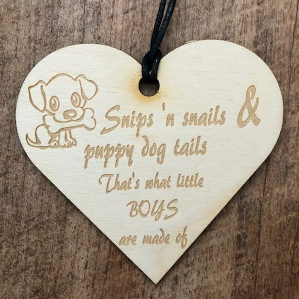 Snips and Snails Baby Boy Wooden Plaque Gift - ukgiftstoreonline