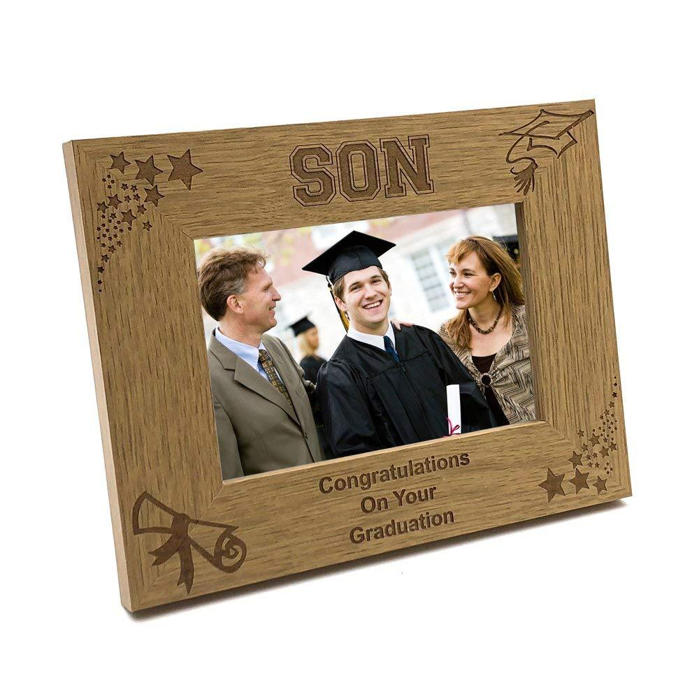 Son Graduation Stars and Hat Photo Frame Gift - ukgiftstoreonline