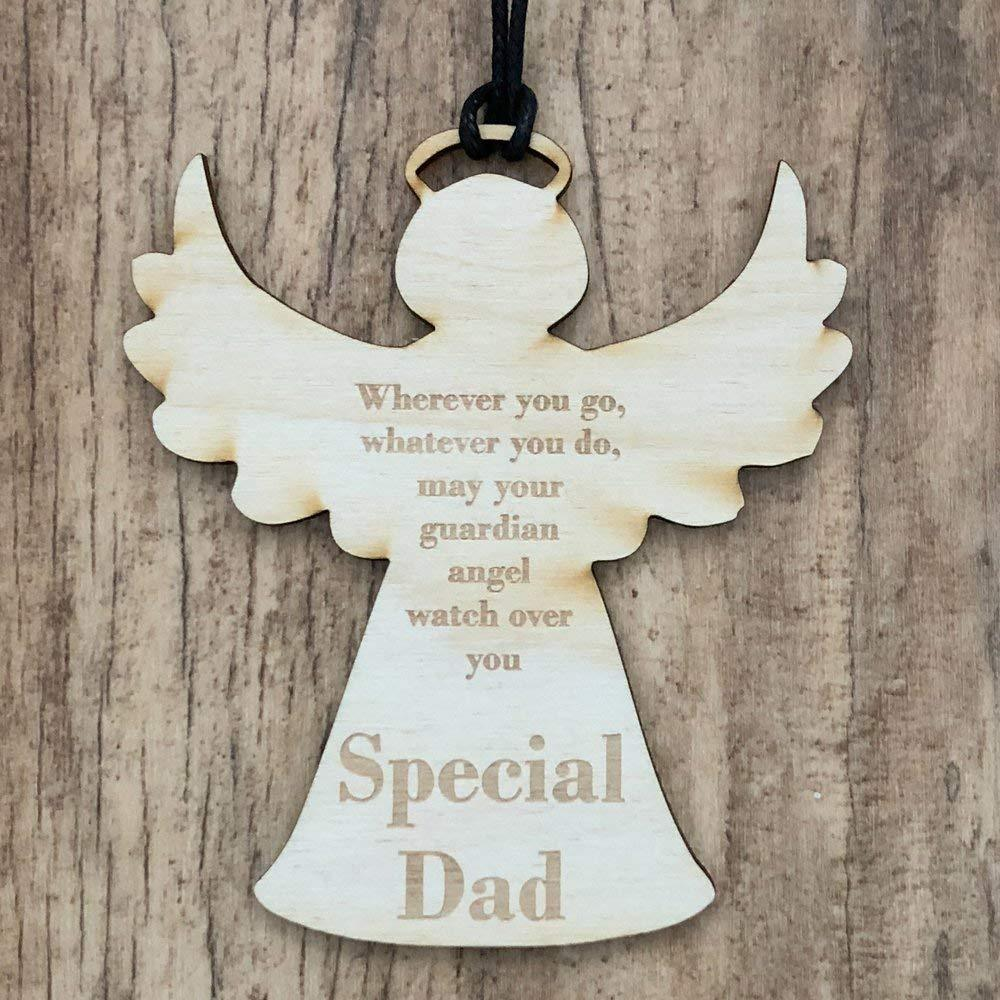 Special Dad Guardian Angel Wooden Plaque Gift - ukgiftstoreonline