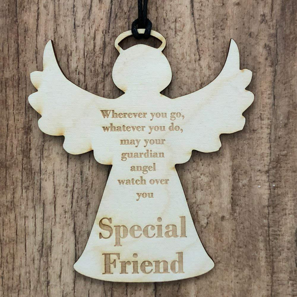 Special Friend Guardian Angel Wooden Plaque Gift - ukgiftstoreonline