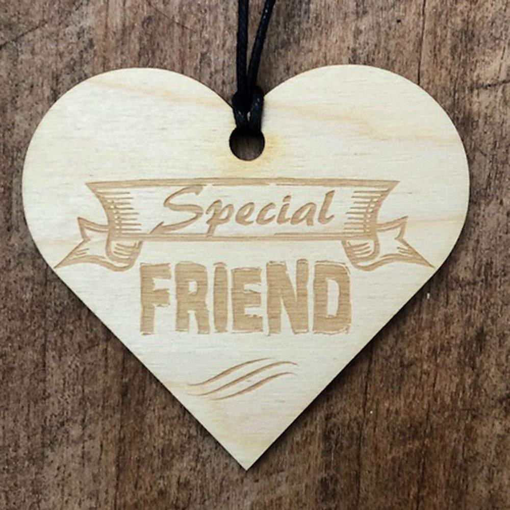 Special Friend Wooden Heart Plaque Gift - ukgiftstoreonline