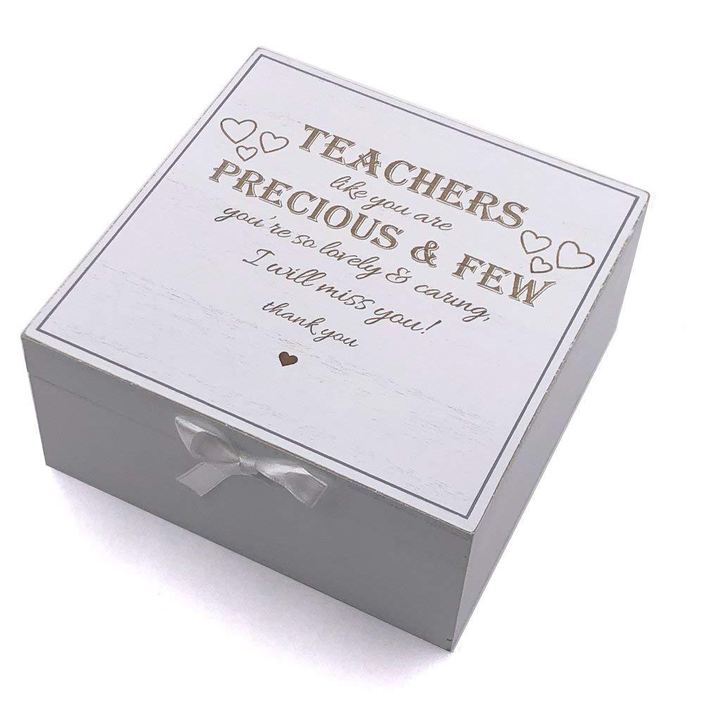 Teacher Gift Thank you Keepsake Box Vintage Style wooden Memories - ukgiftstoreonline