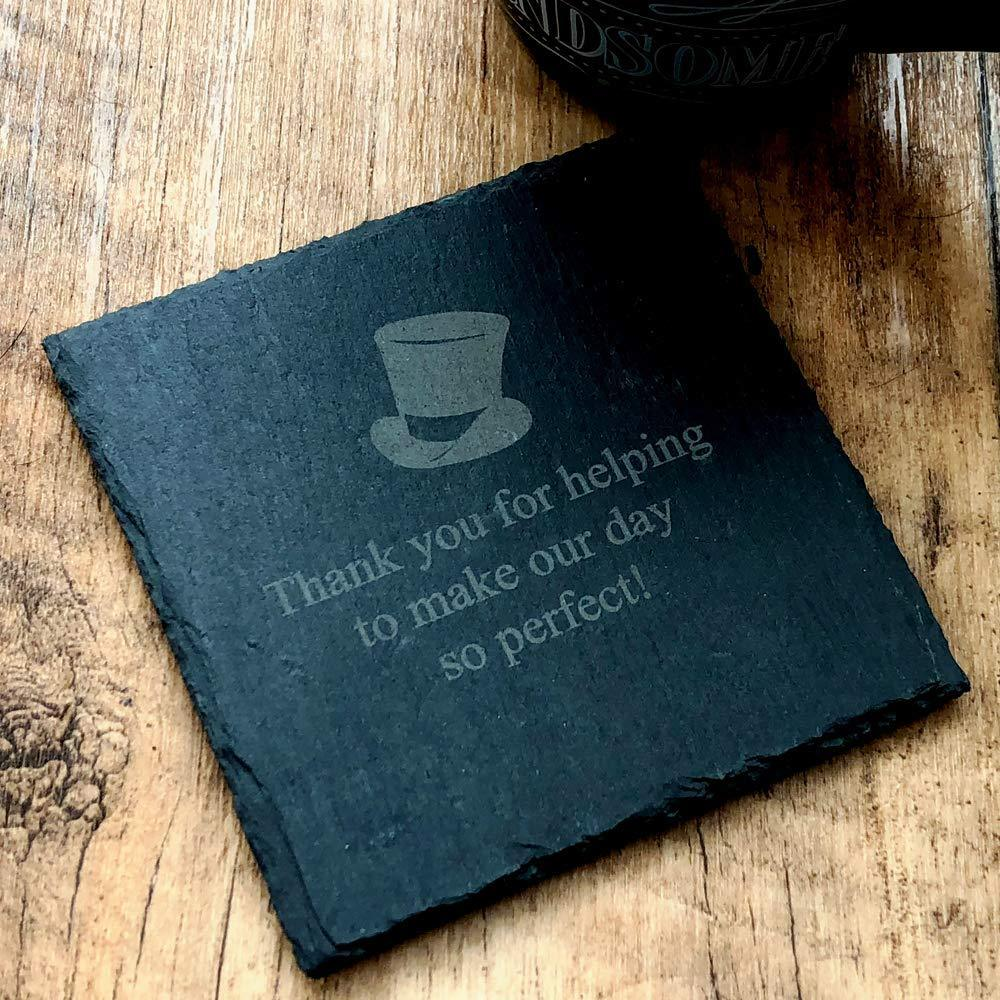 Thank you Best Man Slate Coaster Gift - ukgiftstoreonline