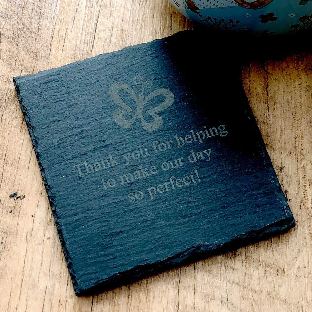 Thank you Bridesmaid Slate Coaster Gift - ukgiftstoreonline