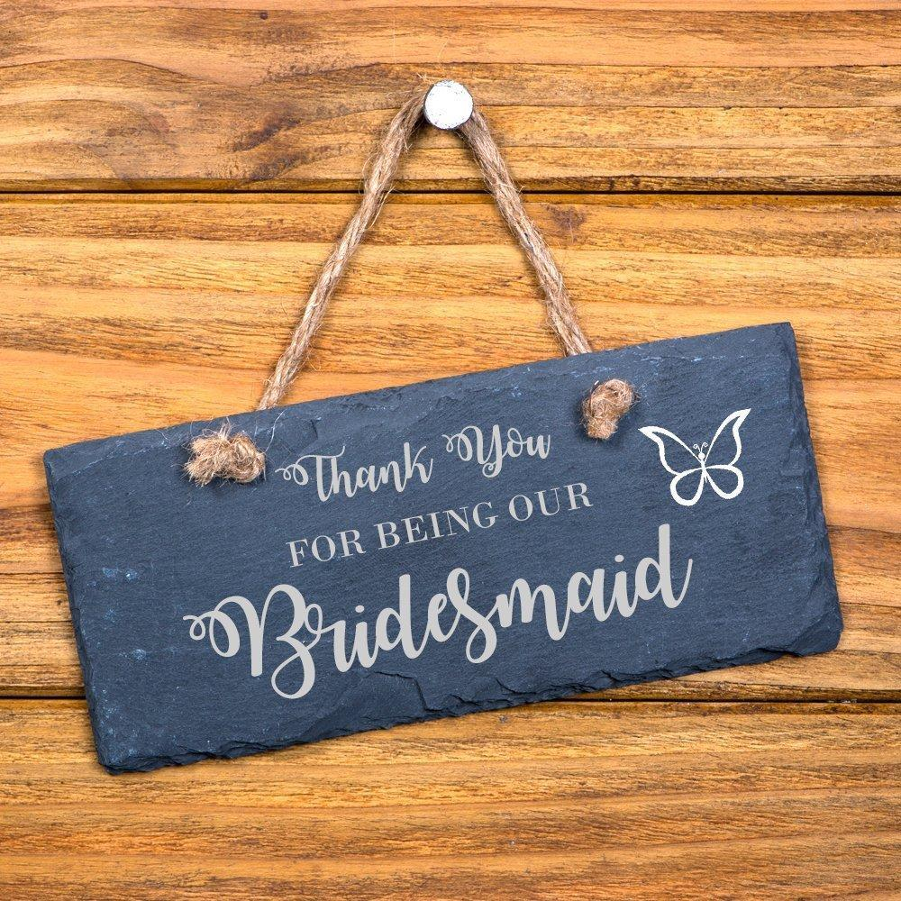 Thank You For Being Our Bridesmaid hanging slate gift - ukgiftstoreonline