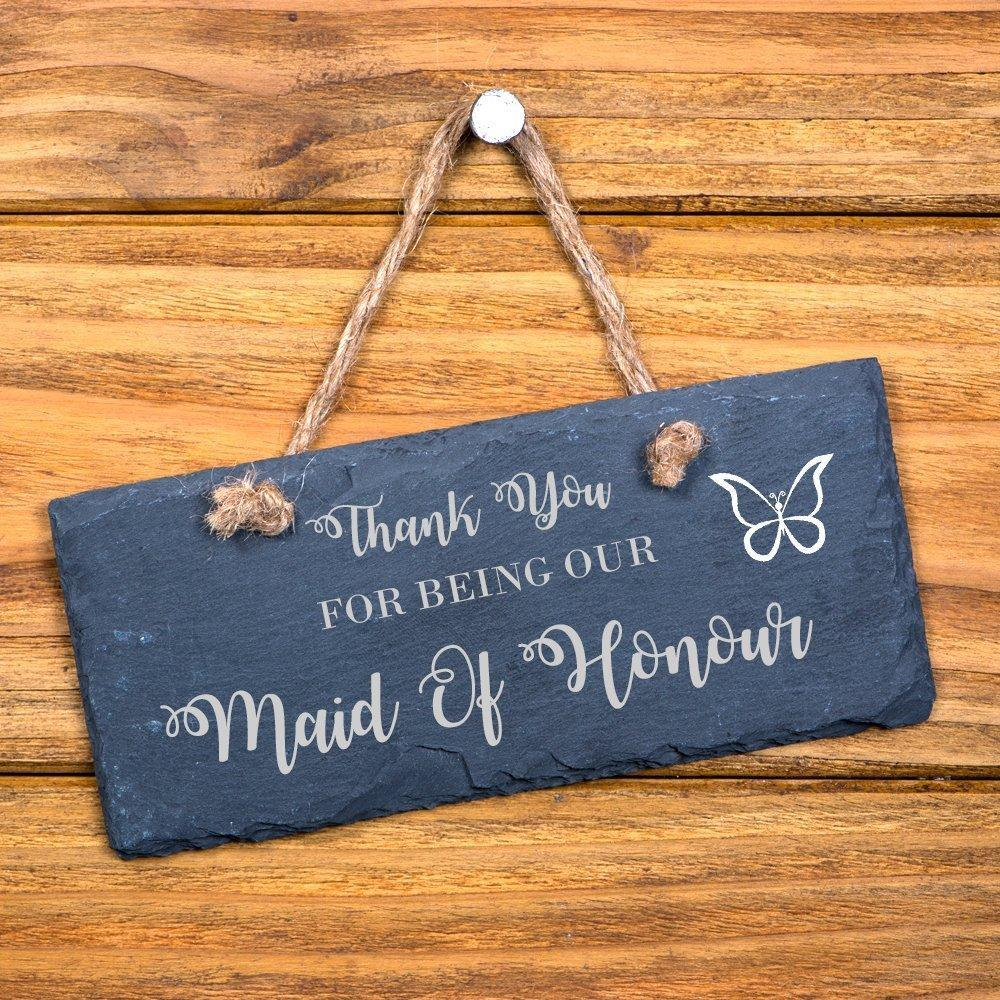 Thank You For Being Our Maid Of Honour hanging slate gift - ukgiftstoreonline