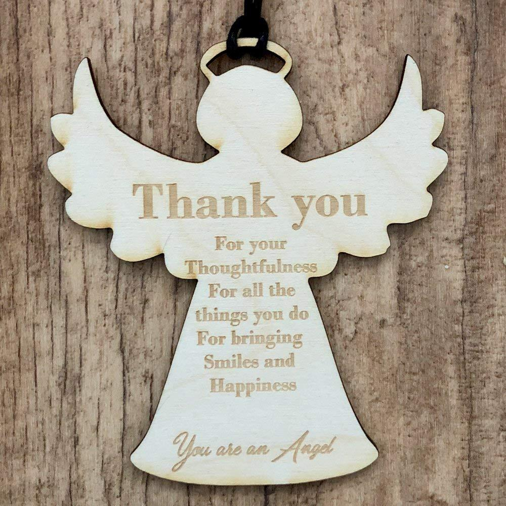 Thank You Guardian Angel Wooden Plaque Gift - ukgiftstoreonline