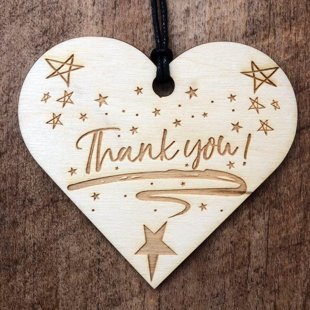 Thank you Hanging Heart Plaque Gift - ukgiftstoreonline