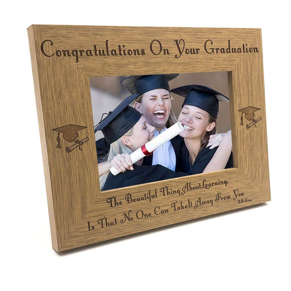 The beauty of learning graduation Wooden Photo Frame - ukgiftstoreonline