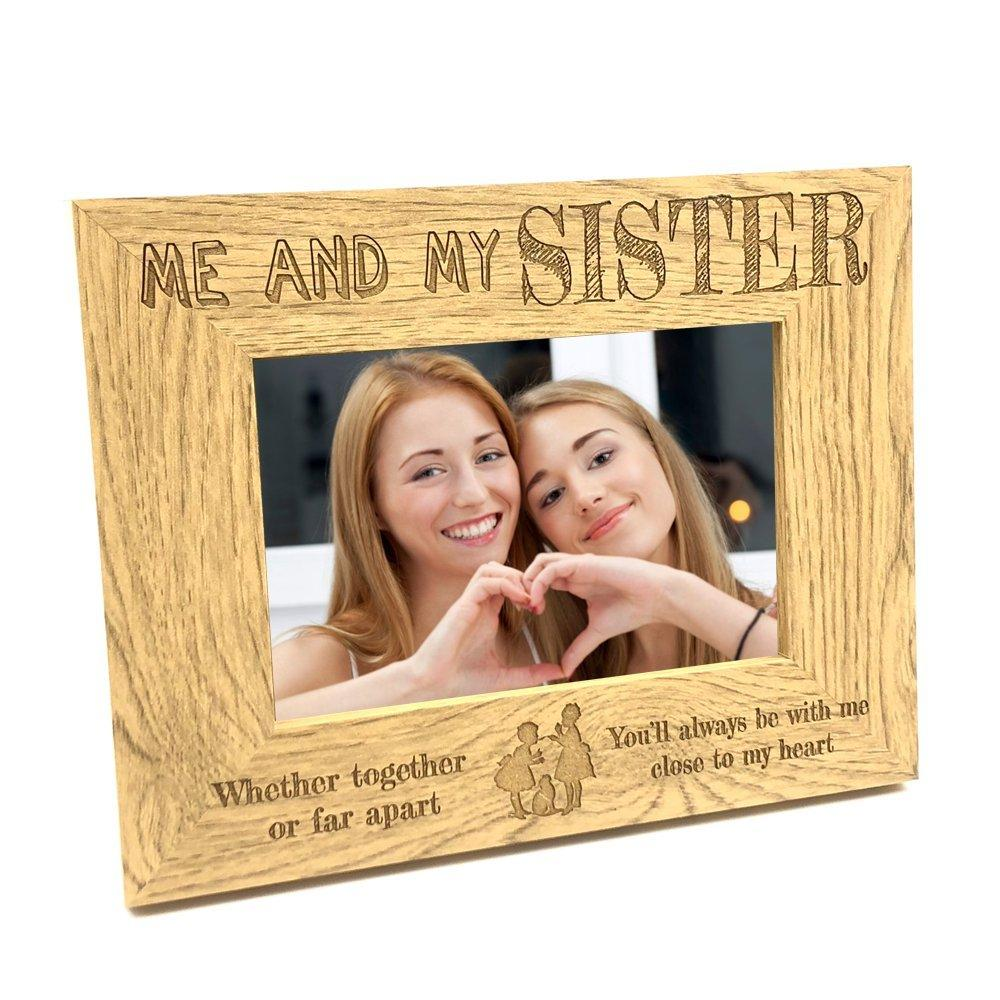 Together Or Far Apart Sisters Wooden Photo Frame Gift - ukgiftstoreonline