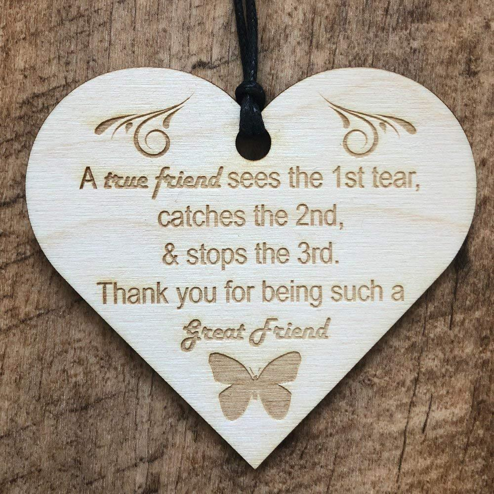 True Friend Wooden Plaque Gift - ukgiftstoreonline