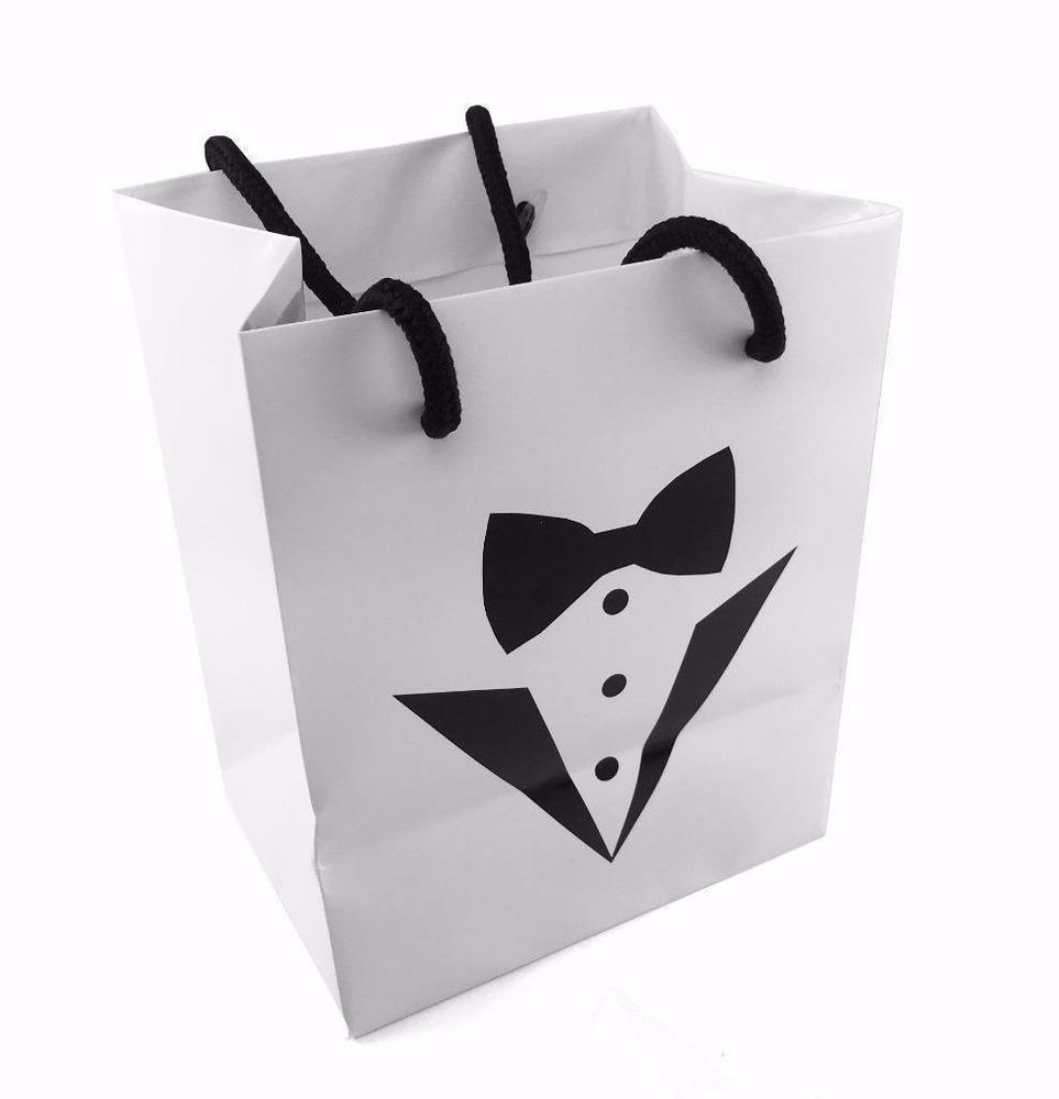 Tuxedo Gift Bags - Perfect for Best Man / Usher / Pageboy Gifts or Favours - ukgiftstoreonline