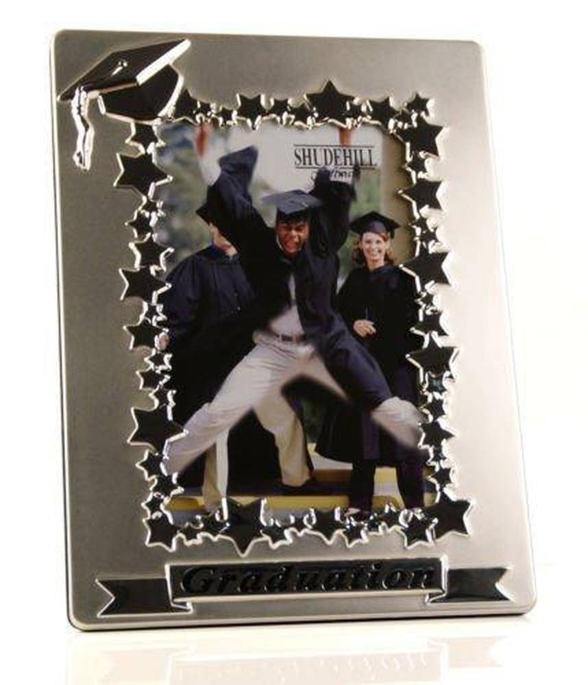 Two Tone Satin Silver Graduation Photo Frame Gift - ukgiftstoreonline