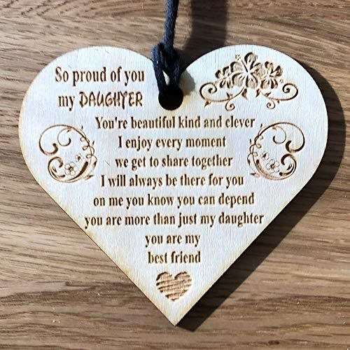 ukgiftstoreonline Daughter Engraved Wooden Plaque - ukgiftstoreonline