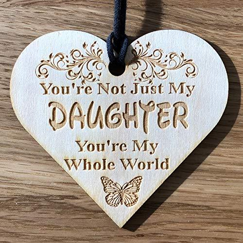 ukgiftstoreonline Daughter You're My Whole World Gift Engraved Wooden Plaque - ukgiftstoreonline