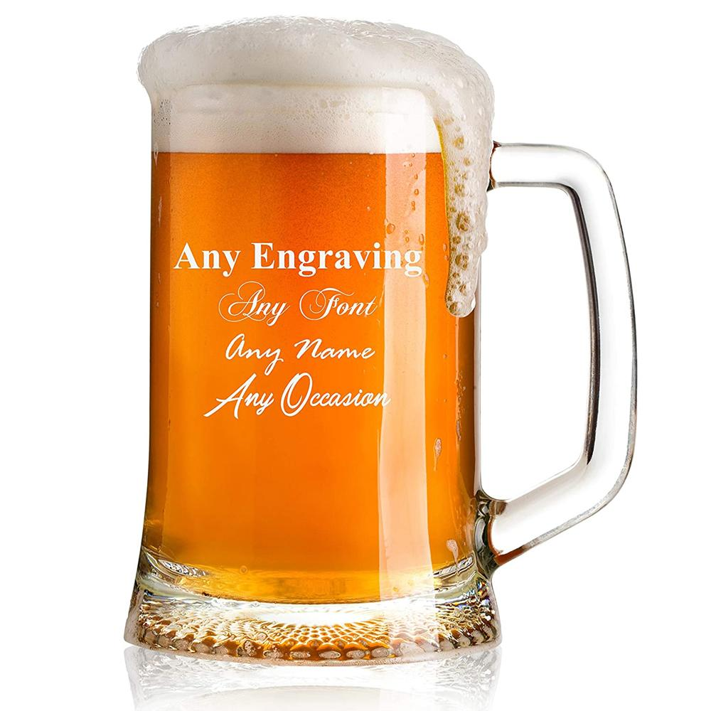 ukgiftstoreonline Engraved Personalised Pint Glass Beer Tankard Gift Boxed - ukgiftstoreonline